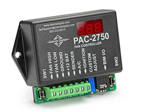 Dakota Digital Programmable Electronic Fan Controller w/ 70 amp Relay PAC-2750 - Dakota Digital Auto