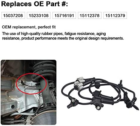 WMPHE ABS Wheel Speed Sensor 2 PCS Front Left /& Right Replace OE # 19181873 15112379 Fit for Chevrolet Express//For Cadillac Escalade//for GMC