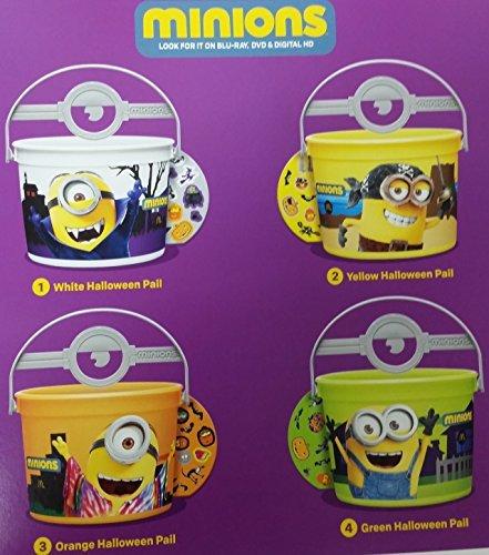 Mcdonalds 2015 Halloween Minions Pails Buckets - Set of 4 by -
