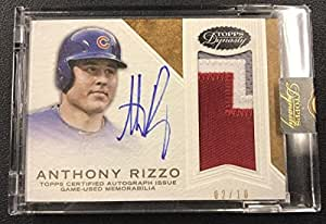 2016 Topps Dynasty Anthony Rizzo Chicago Cubs 3 Color Patch Auto #02/10 - Baseball Slabbed Autographed Cards