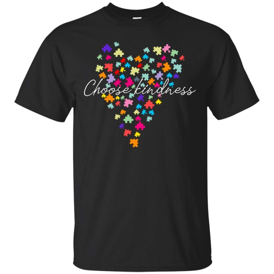 Teelesto Choose Kindness Puzzle Heart Autism Awareness Puzzle Shirt
