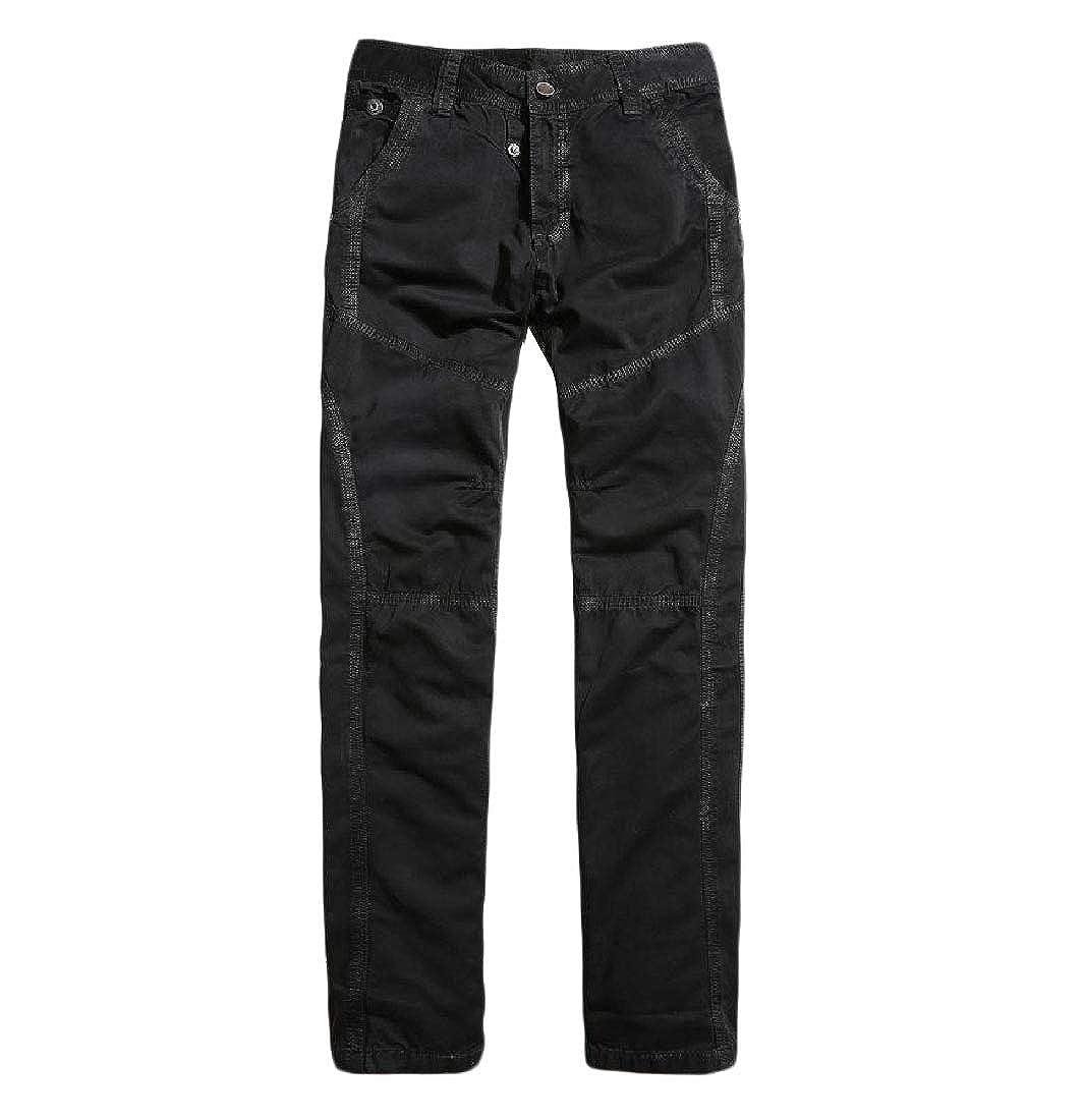 YUNY Mens Work Wear Straight Military Comfort Baggy Cargo Pants Black 31