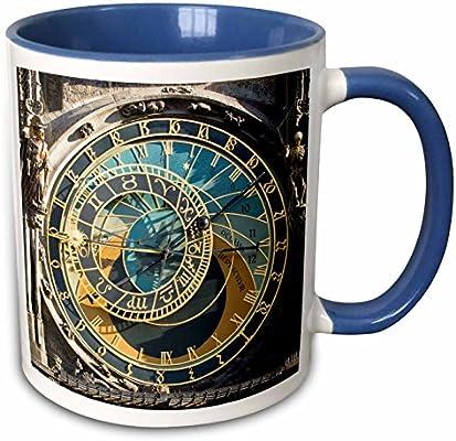 3drose Mug 81259 6 Astronomical Clock Orloj Prague Czech Republic Eu06 Tha0021 Tom Haseltine Two Tone Blue Mug 11 Oz Multicolor Buy Online At Best Price In Uae Amazon Ae