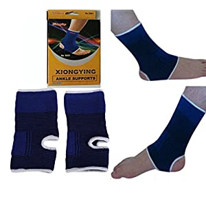 2 ANKLE Support Wrap Elastic Brace Sleeve Muscle Arthritis Pain Relief Gym NEW