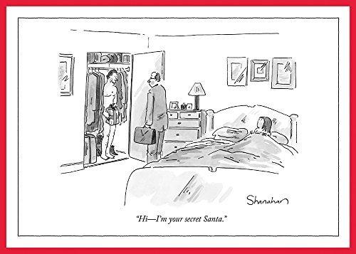 The New Yorker Cartoon Secret Santa Holiday Cards (Box of 8) ()