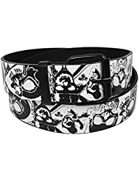 Men's Assorted Graphic Printed Buckle Belts