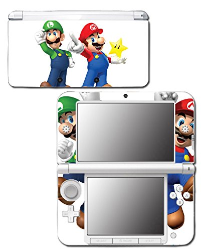 New Super Mario Bros 3D Land World 2 Luigi Star Video Game Vinyl Decal Skin Sticker Cover for Original Nintendo 3DS XL System (Playstation 3 Super Mario)