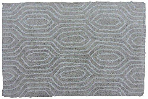 Spura Home 20''X32'' Wood Grain Pattern Bath Mat, Grey
