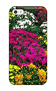 Hot High Grade Flexible Tpu Case For Iphone 5/5s - Fall Flowers 4539668K30141043