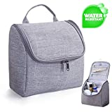 Toiletry Bag Hanging Toiletry Bag Travel Toiletries Cosmetic Bag with Handle and Hook Travel Toiletry Organizer for Men and Women Travel Accessories Water Resistant with Mesh Pockets Shower Bag