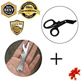MeanHoo Heavy Duty Military style Medical First Aid Bandage Trauma EMT/Paramedic Shears/Scissors & Hiking BBQ Multifunctional Tool Wrench Screwdriver Bottle Opener Sets …