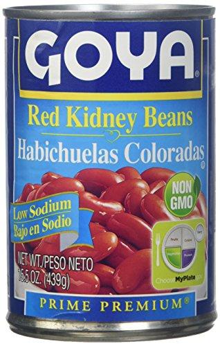 - Goya Low Sodium Red Kidney Beans, 15.5 oz