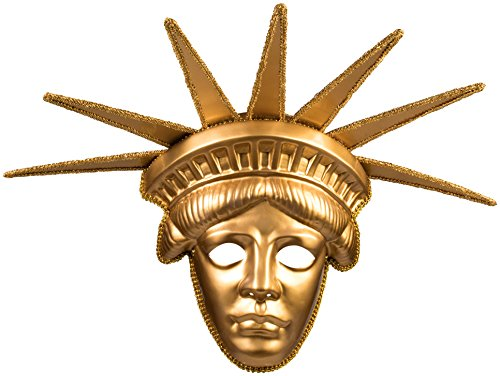 Forum Novelties Women's Statue Of Liberty Deluxe Mask, Gold, One Size ()