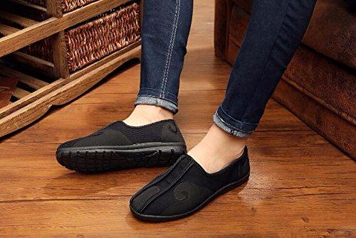 YDA- Die gestickten Schuhe der Frauen KAFEI Man Wolken Tuch Schuhe melaleuca Stock Casual Braun Grau Schwarz, Grau, 42