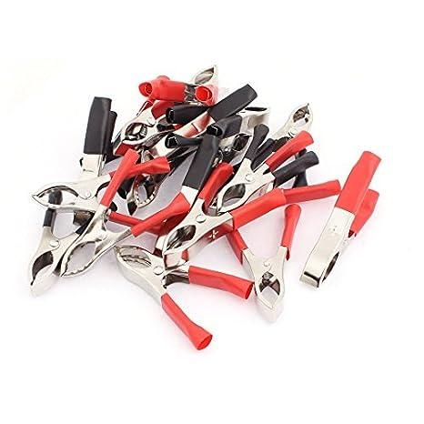 Pinzas de prueba de la batería eDealMax plástico botas de coches cocodrilo Pinza 20Pcs Negro Rojo - - Amazon.com