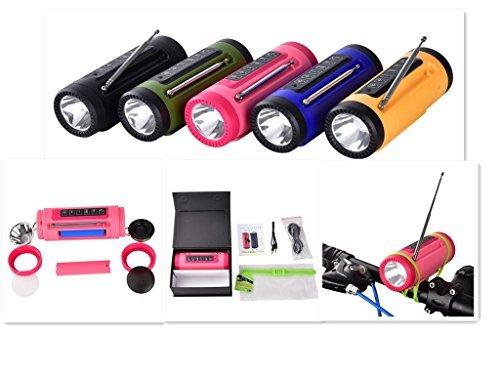 Morjava PL-89 Portable Multi- function Bluetooth Speaker Wireless Speakers with 4000MAH Emergency Power Bank LED Flashlight FM Outdoor Blike Light Speaker -Black by Morjava (Image #2)