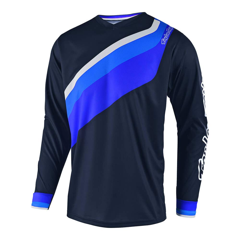 Navy, Small Troy Lee Designs Mens Off-Road Motocross GP Prisma 2 Jersey