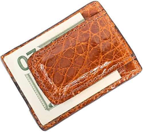 Genuine Alligator Leather Magnetic Money Clip Wallet