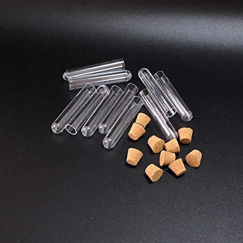 Lot 12x60mm Multifunzionale di plastica Provette con i rifornimenti di Cork Stopper Lab Attrezzature Scolastiche Circa 4 ml becher Sandy Ckingys 100pcs