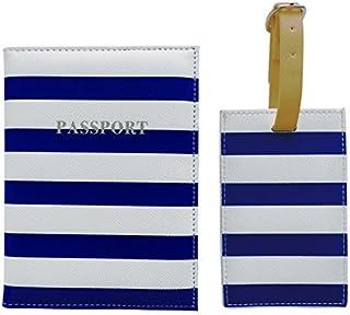 Bombay Duck-Custodia per passaporto, 14 cm, colore: navy/bianco, Blu navy/Bianco (Blu) - ACC180NW