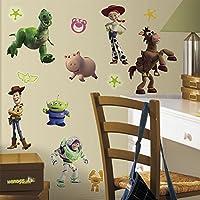 RoomMates RMK1428SCS Toy Story calcomanías para pelar y pegar, brillan en la oscuridad, 34 unidades