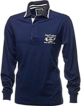 Classic-All Blacks Polo de Rugby All Blacks Classic Legends Azul ...