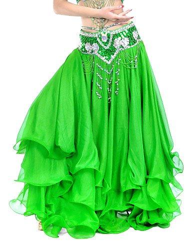ZLL Faldas(Azul / Verde / Amarillo,Gasa,Danza del Vientre / Sala ...