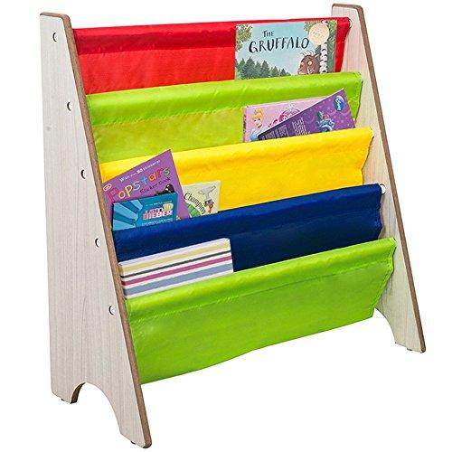 TopHomer Children Kids Bookshelf Colorful Sling Storage Bookcase Display Shelves Rack Holder Stand for Baby Nursery Room Bedroom by Tophomer