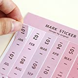 16 Pieces Self-Stick Mini DIY Paper/PVC Monthly