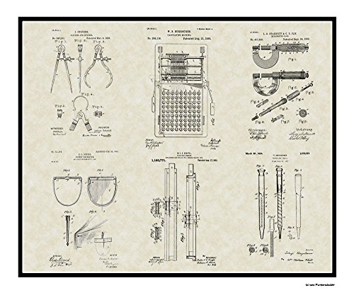 Patent Art Poster - Engineering Tools - Engineer Manufacturing Print Gift