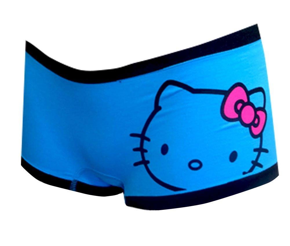 Hello Kitty Turquoise Seamless Boy Short Panty for women (Medium)