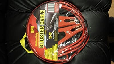 Jump Start Auto Car Motorcycle Bike Truck Small SUV Battery Booster Jumper Cable 300-amp 12-Feet Medium Heavy Duty 8-Guage With Pouch