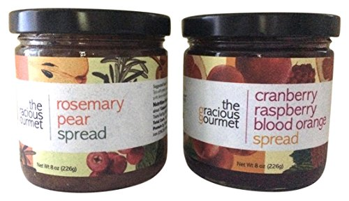 The Gracious Gourmet Rosemary Pear Spread/Cranberry Raspberry Blood Orange, 16 (Raspberry Walnut Cake)