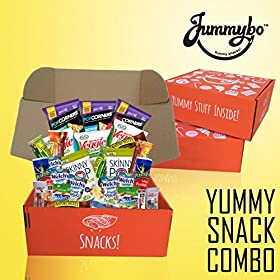 Healthy Snacks Variety Package | Nuts, Bars and Snacks Gift Box | Care Package | Travel and Office Snacks (30 count) | Packed with Love by Jummybo
