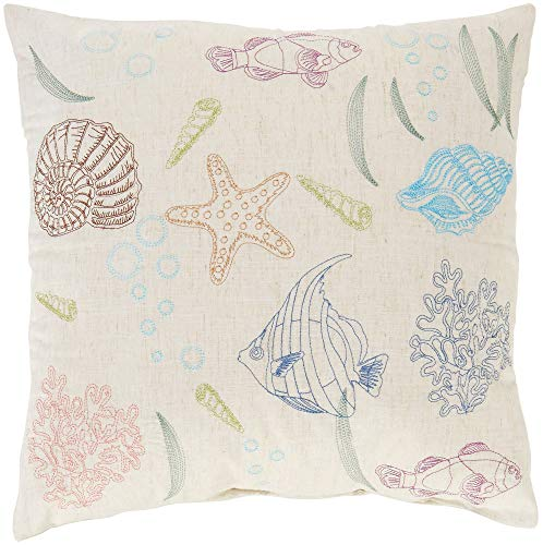 Arlee Aquatic Sketch Decorative Pillow One Size Beige