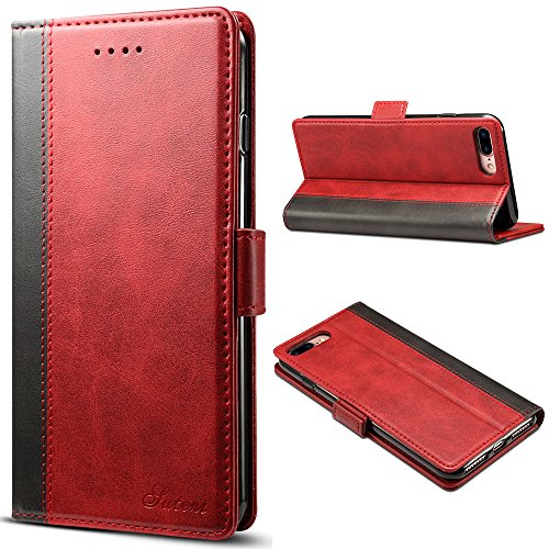 Iphone 8 PU PU Leather Wallet Cell Phone Card Holder Case With Kickstand Protective Flip Cover, - Wallet Fire Case Phone Leather