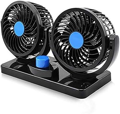 BDHL Ventilador de Refrigeración para Coche Doble Cabeza 2 ...