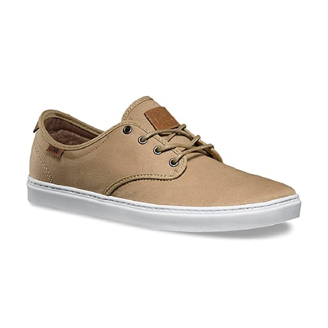 Amazon.com | Vans Mens Ludlow + (T&L) Khaki/White US 7 Skateboarding Shoes | Skateboarding