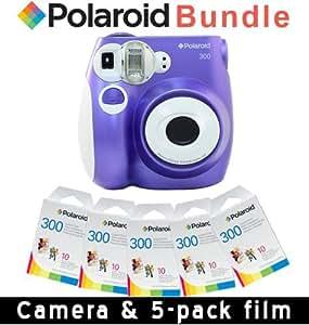 Polaroid PIC-300P Instant Camera in Purple + 5 PACK OF FILM PAPER