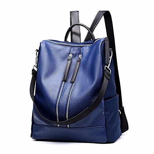 MSZYZ Bolsa para llevar al hombro, la participación de la mujer en la bolsa, mochila, los hombros de las mujeres, la moda señoras, bolsas casuales,azul