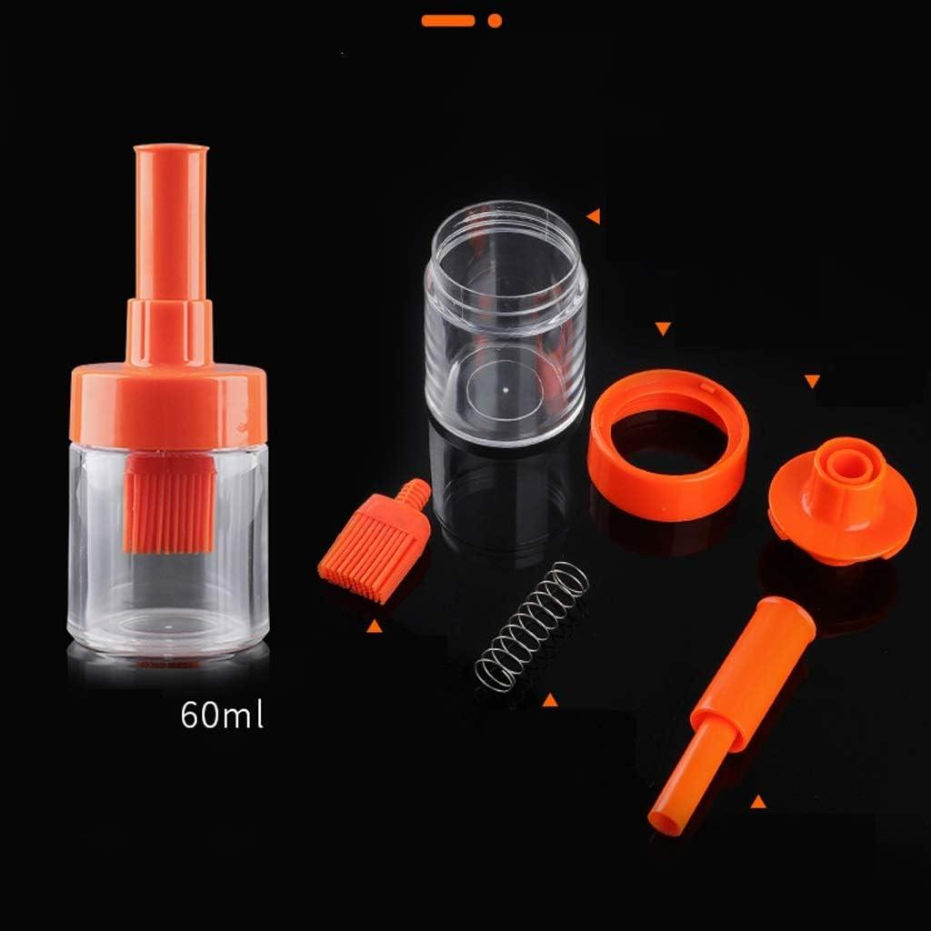 Lzrzbh /Ölflasche mit K/üchenpinsel Color : A Silikon-/Öl Pinseln Flasche BBQ-Pinsel Kochen Backen K/üche Werkzeug weiche Silikon-Grillb/ürste for Barbecue-Geb/äck