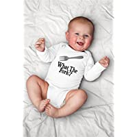 Funny What The Fork Baby Bodysuit With Kitchen Chef, Cook, Baking
