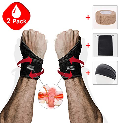 - Maxjoy Wrist Brace, Wrist Support / Wrist Straps / Wraps Support / Hand Support / Carpal Tunnel Wrist Braces for Men, Women, Sports Injuries Pain Relief, Fit for Right and Left Hands, Black
