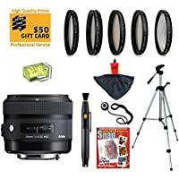 Sigma 30mm f/1.4 DC HSM ART Lens with UV, CPL, FLD, ND4,+10 Macro Filters and Bundle for Pentax K-S1, K-500, K-50, K-30, K5 IIs, K-7, K-5, K-3, K-2, K-X, K20D, K100D, K110D and K10D Digital SLR Cameras