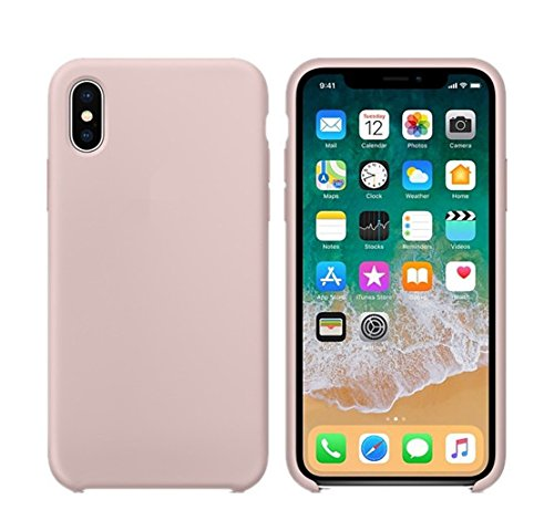 finest selection 85c09 2db56 iPhone X Liquid Silicone Case (Pink Sand) with Soft Microfiber Lining, and  Packaging Guaranteed