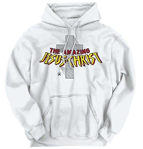 Amazing Jesus Christ Christian Shirt Spiderman Religious Gift Hoodie Sweatshirt (Sweater Reviews Machine Ultimate)