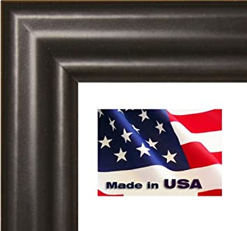 24x32 black 75 thin solid wood picture poster frame wall dcor