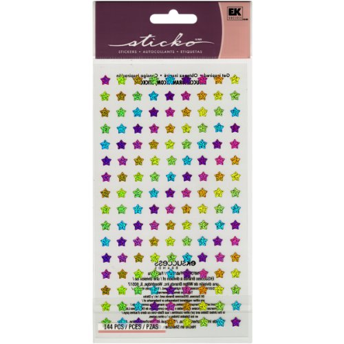 EK Success Sticko Stickers, Rainbow Stars