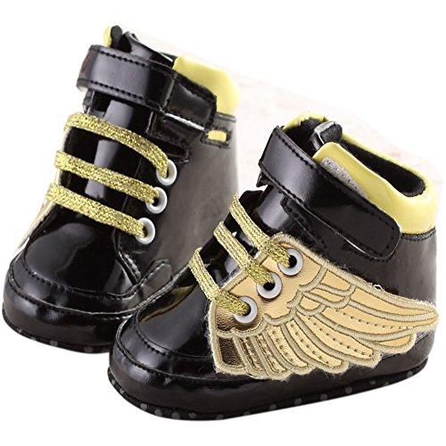 schwarz 6 gold Mädchen Online 12month Baby Lauflernschuhe Etrack Gold xOPAUqw8