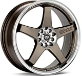 4 lug 17 inch rims set - ENKEI - ev5 - 17 Inch Rim x 7 - (4x100/4x4.5) Offset (45) Wheel Finish - matte bronze with machined lip